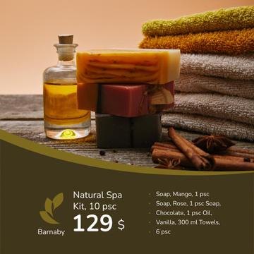 Natural Handmade Soap Shop Ad
