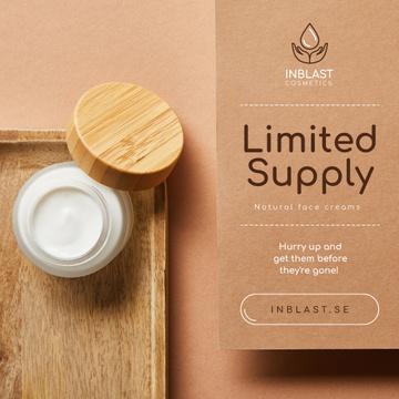 Cosmetics Sale Natural Face Cream Jar