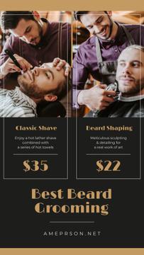 Man Shaving at Barbershop