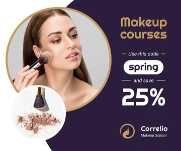 Makeup Courses offer Woman applying Foundation
