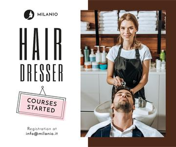 Hairdressing Courses stylist with client in Salon