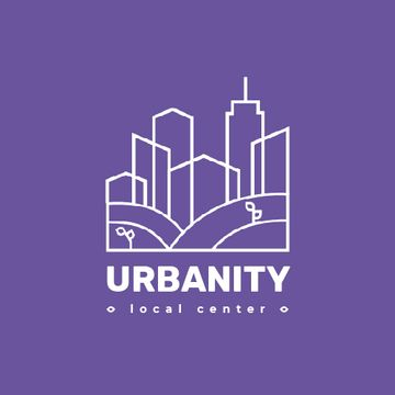 Urban Planning Company Building Silhouette in Purple