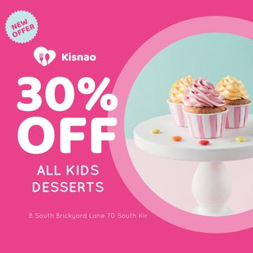 Kids Desserts Offer Sweet Cupcakes