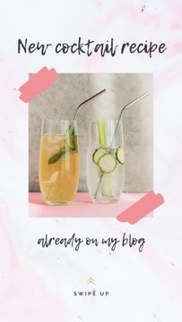 Food Blog Promotion Cocktails in Glasses