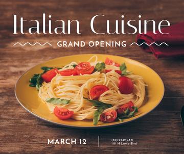 Pasta Restaurant opening tasty Italian Dish