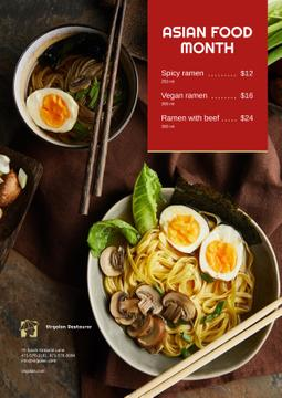 Asian Cuisine Dish with Noodles