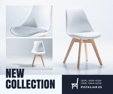 Furniture Shop Ad White Cozy Chair
