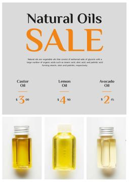 Beauty Products Sale with Natural Oil in Bottles