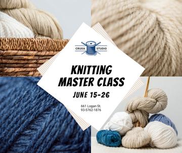 Knitting Lessons Wool Yarn Skeins