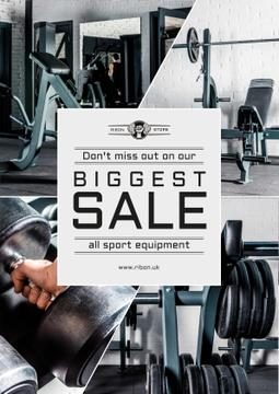 Sports Equipment Sale with Gym View