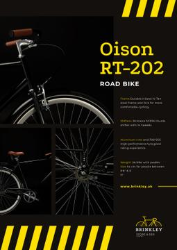 Bicycles Store Ad with Road Bike in Black