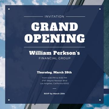 Financial Company Opening Announcement Glass Building