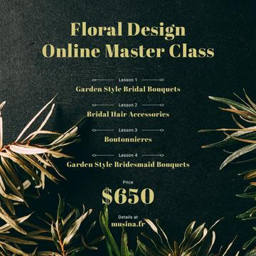 Floral Design Masterclass Ad Leaves Frame