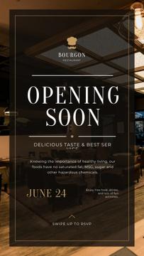 Restaurant Opening Announcement Classic Interior