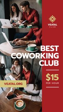 Coworking Space Offer Business Team with Laptop