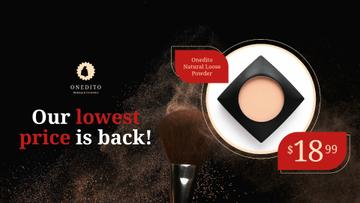 Cosmetics Sale Face Powder with Brush
