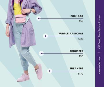 Fashion Ad Stylish Girl Wearing Raincoat