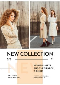Clothes Store Promotion with Women in Casual Outfits