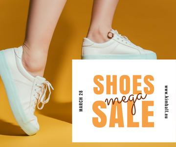 Shoes Sale Female Legs in Sports Shoes