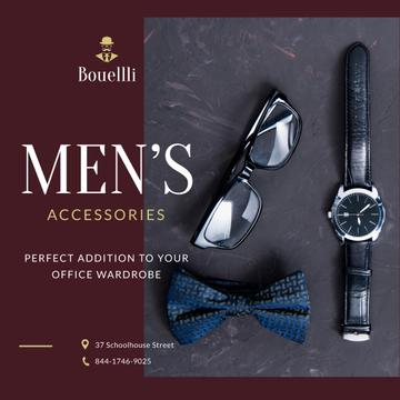 Stylish Male Accessories Store Ad