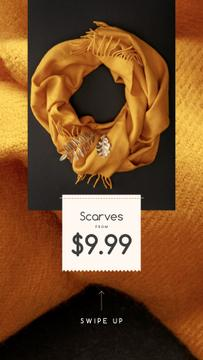 Fashion Ad Warm Winter Scarf