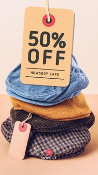 Clothes Store Sale Male Caps Pile