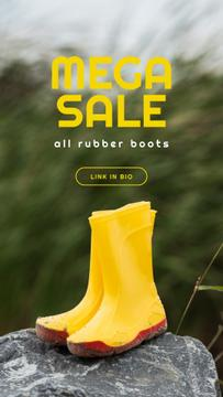 Shoes Sale Rubber Boots in Yellow