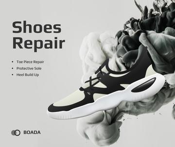Sneaker Cleaning Service Ad in Black and White