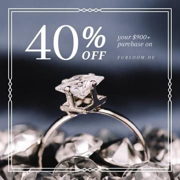 Jewelry Sale Ring with Diamond