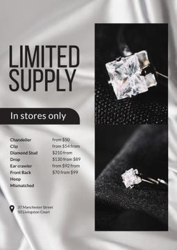 Jewelry Store Promotion with Ring with Diamond