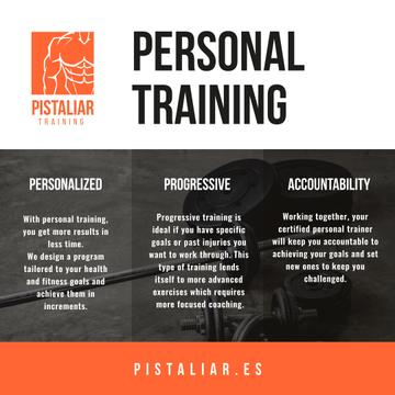 Personal training Offer with Sports Equipment