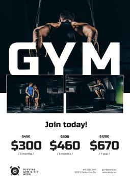 Gym Offer with People doing Workout