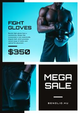 Fight Gloves Sale with athletic Man