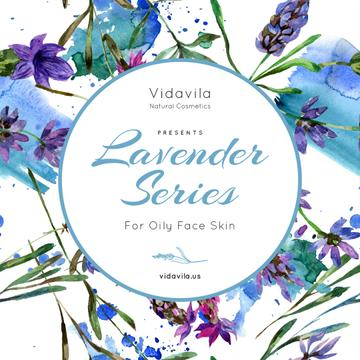 Natural Cosmetics Offer with Lavender drawings