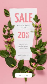 Naturale Cosmetics Sale on Roses frame