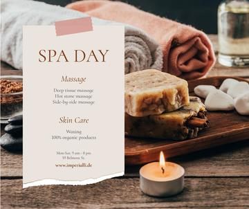 Spa Salon Offer Skincare Products and Soap