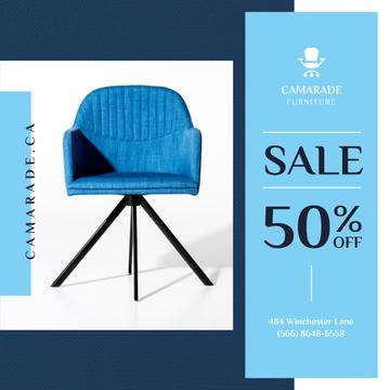 Cozy Blue Armchair Offer