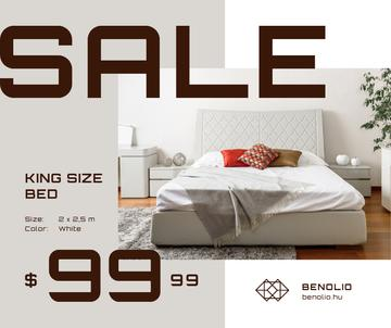 Bedroom Furniture sale interior in light colors