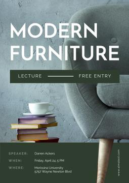 Modern Furniture Offer with stack of Books and Coffee