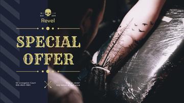 Tattoo Studio Ad Man Getting Tattoo