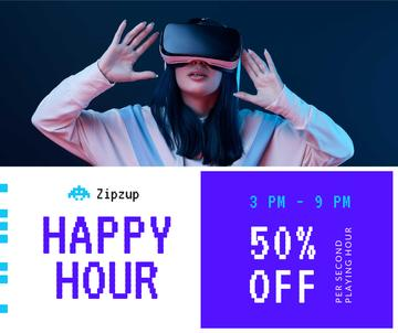 Gadgets Sale Girl in VR Glasses