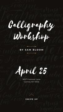 Caligraphy Workshop Annoucement