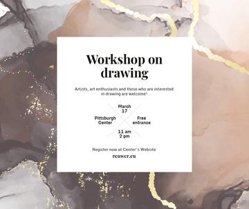 Art Workshop promotion on watercolor pattern