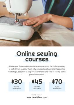 Online Sewing courses Annoucement