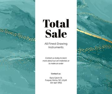 Art Supplies Sale on painting background