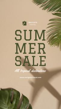 Summer Tour Sale with Palm leaves