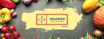 Restaurant menu with fresh Vegetables