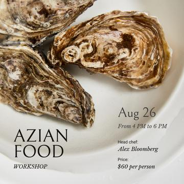 Azian Food Ad with Oyster dish