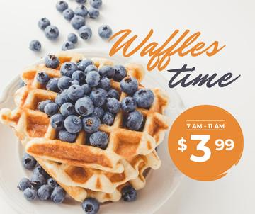 Breakfast Offer Hot Delicious Waffles