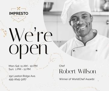 Restaurant Promotion Chef in White Toque